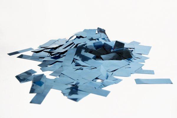 ConStream Metallic Confetti Hellblau 50mm x 15mm 1 Kg