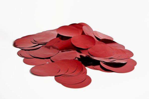 ConStream Metallic Confetti Rot 50mm Rund 1 Kg