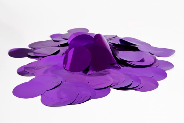 ConStream Metallic Confetti Violett 50mm Rund 1 Kg