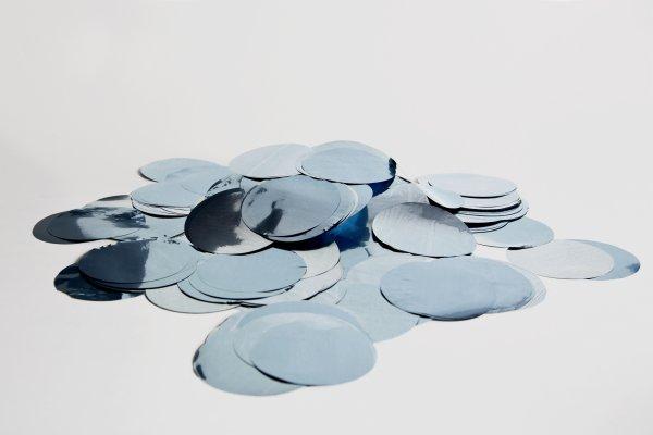 ConStream Metallic Confetti Hellblau 50mm Rund 1 Kg