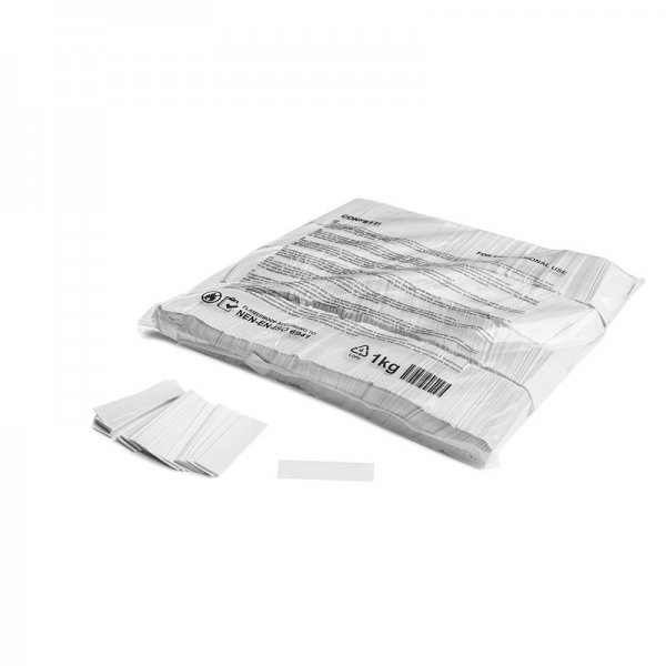 MFX Papier Confetti Weiß 55mm x 17mm 1 kg